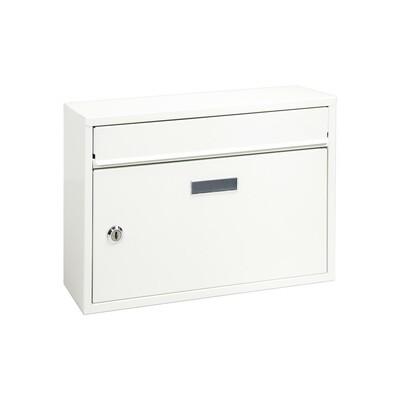 Poštová oceľová schránka Terni, biela