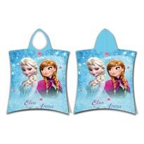 Jerry Fabrics Poncho pentru copii Frozen glitter, 50 x 115 cm