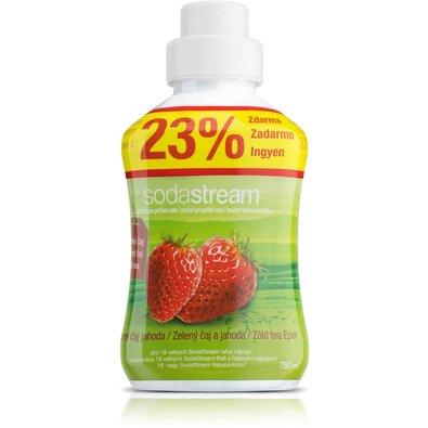 SodaStream Szörp Zöld tea és eper, 750 ml