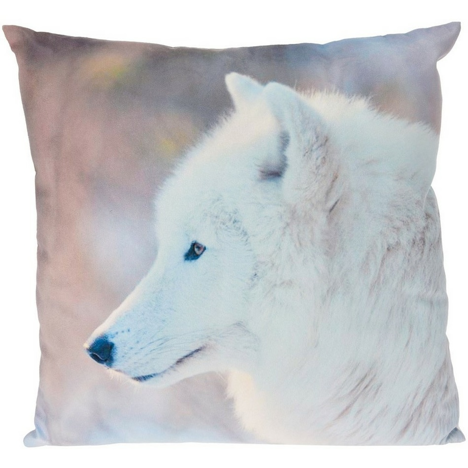 Koopman Polštářek Animals Vlk bílý, 45 x 45 cm