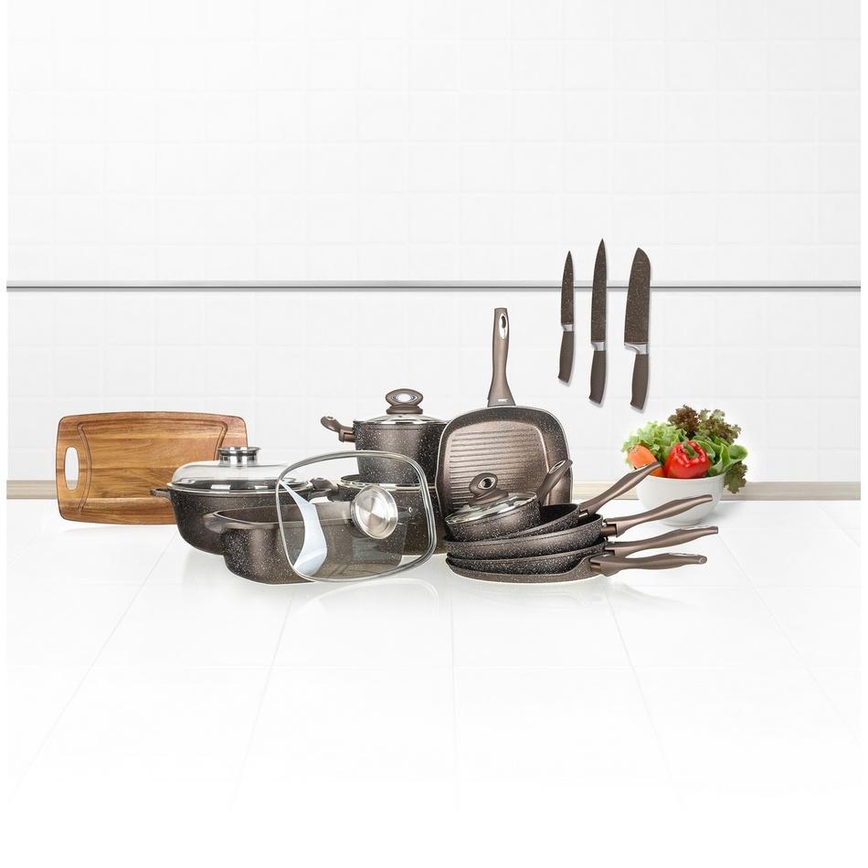 Produktové foto Banquet Rendlík s nepřilnavým povrchem PREMIUM Dark Brown 16 x 7,5 cm