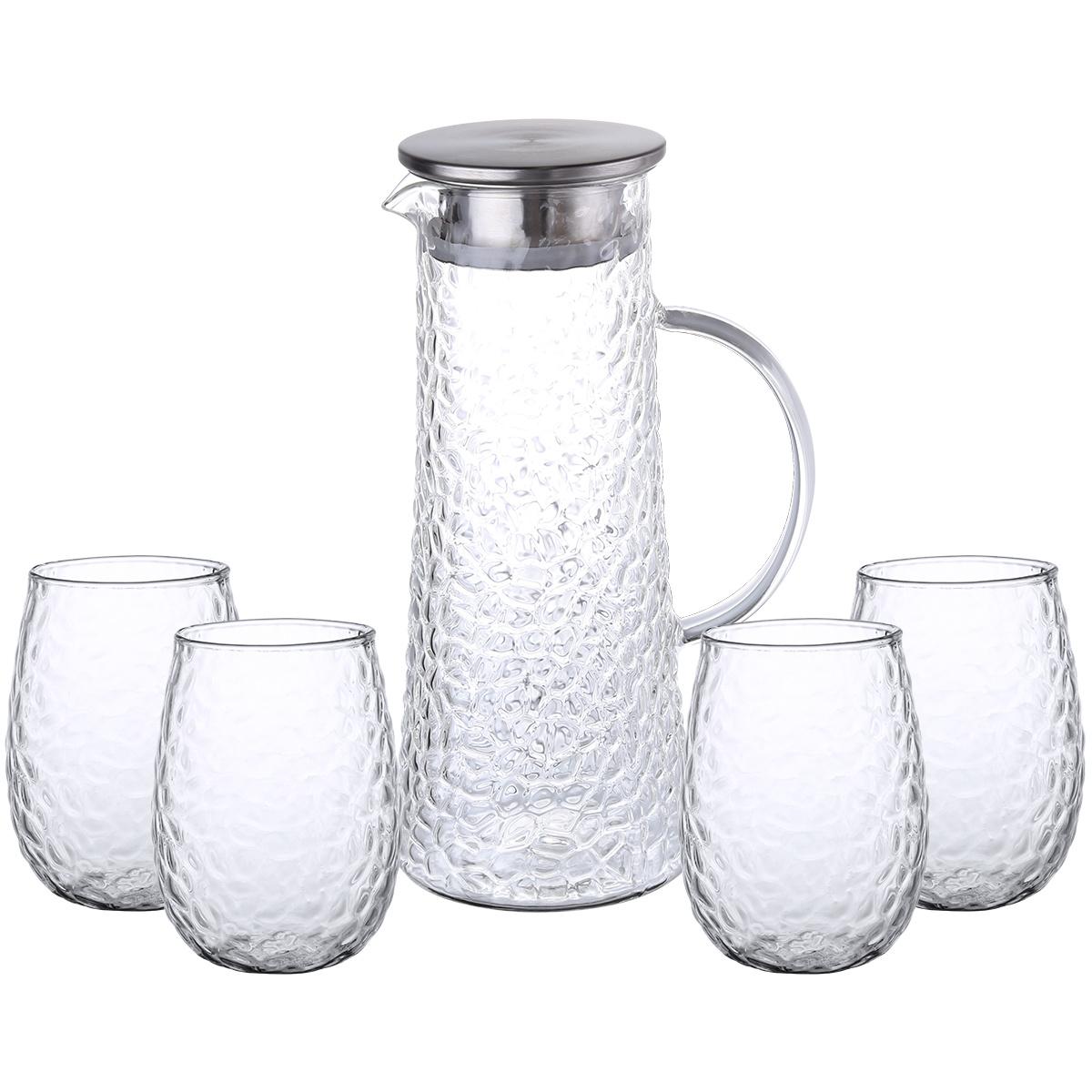 4Home Sada džbánu a pohárov Raindrop
