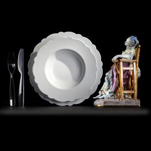 Dezertní talíř Dressed 20,5 cm, bílý