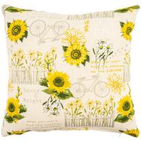 Față de pernă Floarea soarelui, 40 x 40 cm