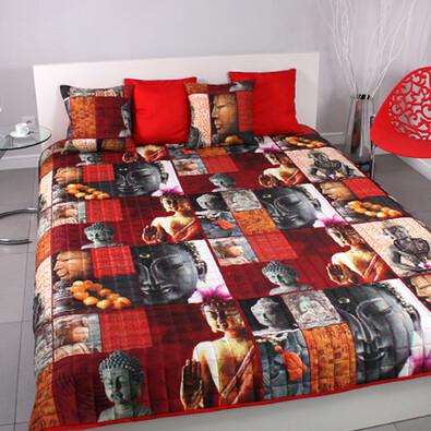 Přehoz na postel Zen + povlaky na polštářky zdarma, 220 x 200 cm, 2 ks 40 x 40 cm
