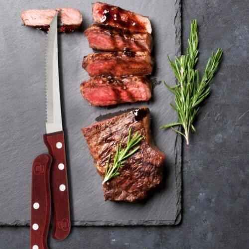 Blaumann Kés steak rozsdamentes acél és fa, 4 db