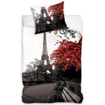 Bavlnené obliečky Jeseň v Paríži, 140 x 200 cm, 70 x 90 cm