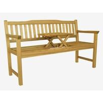 Dřevěná lavička se stolkem Eva, 150 x 60 x 88 cm