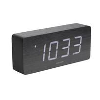 Karlsson 5654BK Dizajnové LED stolné hodiny s budíkom, 21 x 9 cm