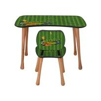 Stolik dziecięcy z krzesełkiem Piłka nożna, 90 x 52 x 60 cm