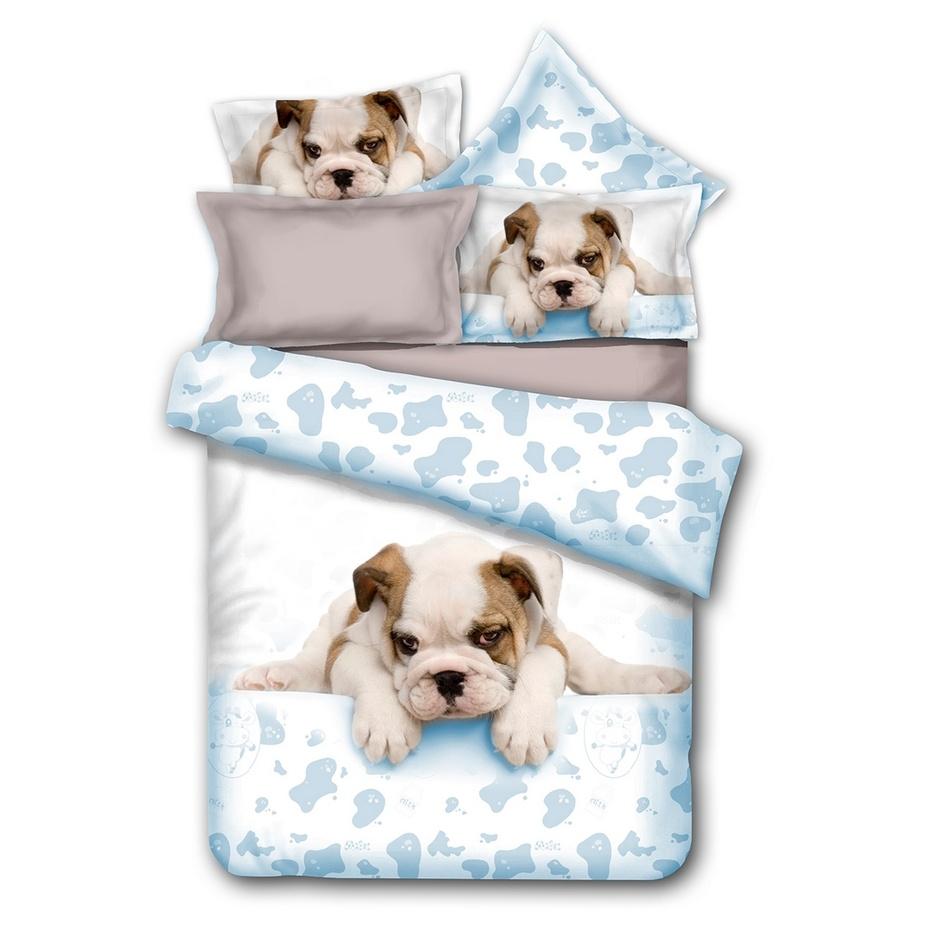DecoKing Obliečk\ Grumpy Puppy mikrovlákno, 135 x 200 cm, 80 x 80 cm