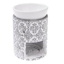 Ceramiczna lampa aromatyczna Rapallo, 9,5 x 12 x 9,5 cm