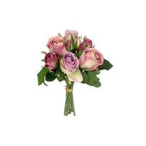 Buchet trandafiri artificiali Lila, 28 x 15 cm
