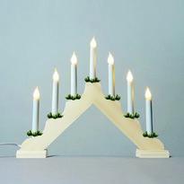 Adventní svícen s taženou žárovkou LED Filament, přírodní