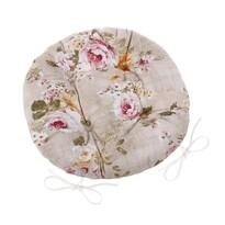 Siedzisko Ema okrągłe pikowane Kwiaty, 40 cm