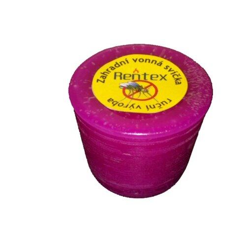 Záhradná sviečka repelentná valec, levanduľa