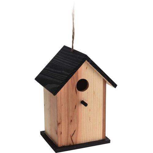 Budka dla ptaków Bird house brązowy, 15,5 x 13 x 22 cm