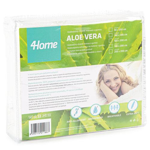 4Home Aloe Vera gumifüles vízhatlan matracvédő, 180 x 200 cm