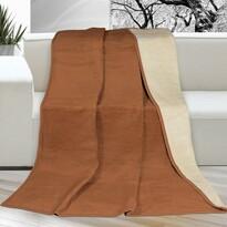 Koc XXL / Narzuta na łóżko Kira brązowy, 200 x 230 cm