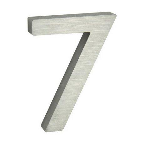 Alumínium házszám, 7, 3D, köszörült felület felület