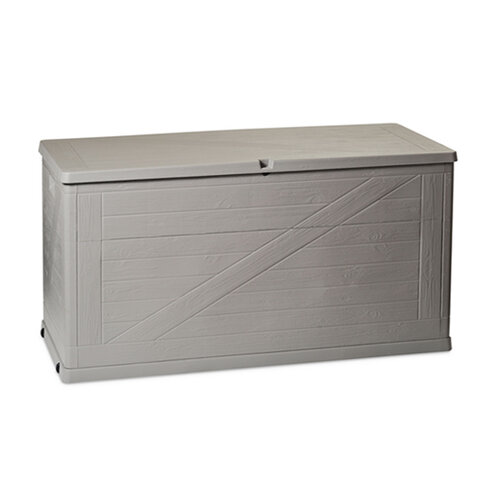 Zahradní úložný box na nářadí a polstry WOOD LINE - 420 L