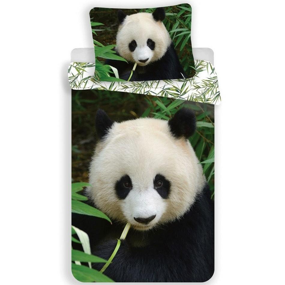 Jerry Fabrics Dětské bavlněné povlečení Panda 02, 140 x 200 cm, 70 x 90 cm