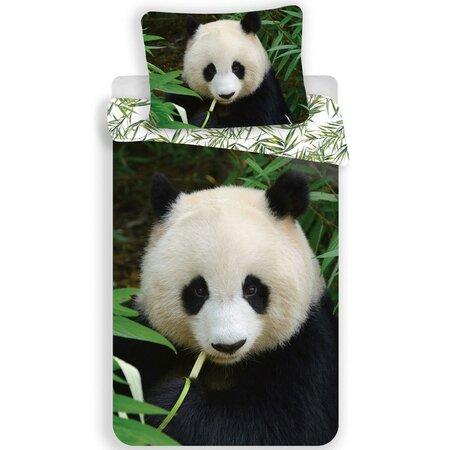 Jerry Fabrics Panda 02 gyermek pamut ágynemű, 140 x 200 cm, 70 x 90 cm