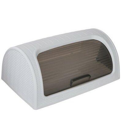 Altom Rattan White műanyag kenyértartó, 41,7 x 26,9 x 18,1 cm