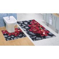 Covoraș baie Orhidee 3D, 60 x 100 + 60 x 50 cm