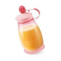 Tescoma Pružná fľaša PAPU PAPI 200 ml s lyžičkou, ružová