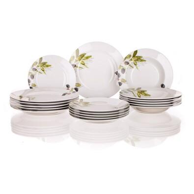 Banquet 18dílná talířová sada Olives