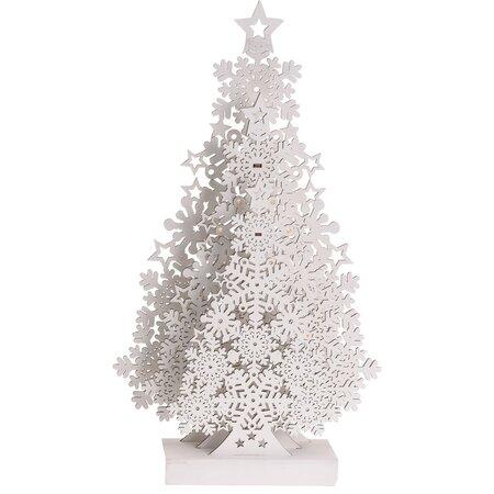 Vianočná dekorácia Tree with Snowflakes, 48 cm