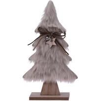 Hairy tree karácsonyi dekoráció,  világosbarna, 28 cm
