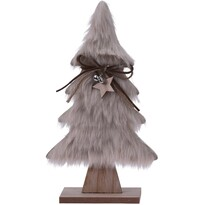 Koopman Hairy tree karácsonyi dekoráció,  világosbarna, 28 cm