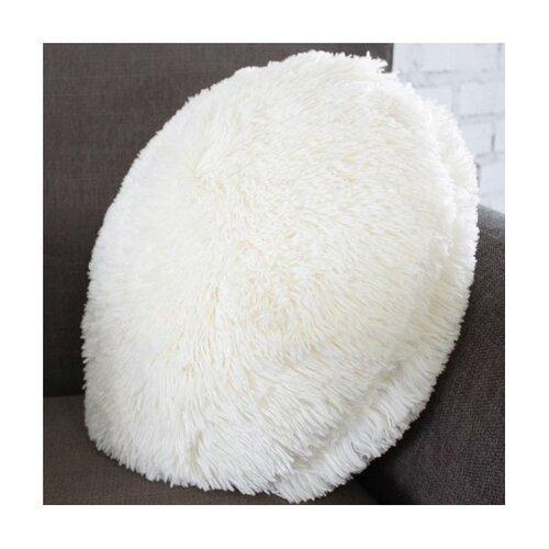 Domarex Polštář kulatý Queen bílá, 50 cm