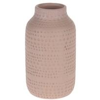 Koopman Asuan kerámia váza, rózsaszín, 19 cm