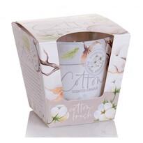 Cotton fresh illatgyertya üvegpohárban, 115 g, 8 cm