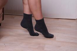 Cyklistické ponožky B active, světle šedá, 23 - 25
