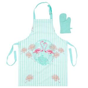 Trade Concept Dětská kuchyňská souprava Plameňák modrá