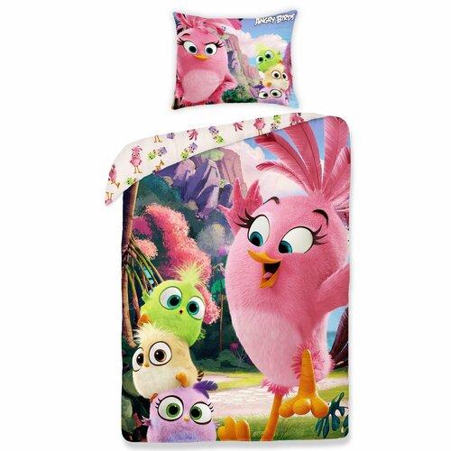 Angry Birds movie 1155 gyermek pamut ágynemű, 140 x 200 cm, 70 x 90 cm