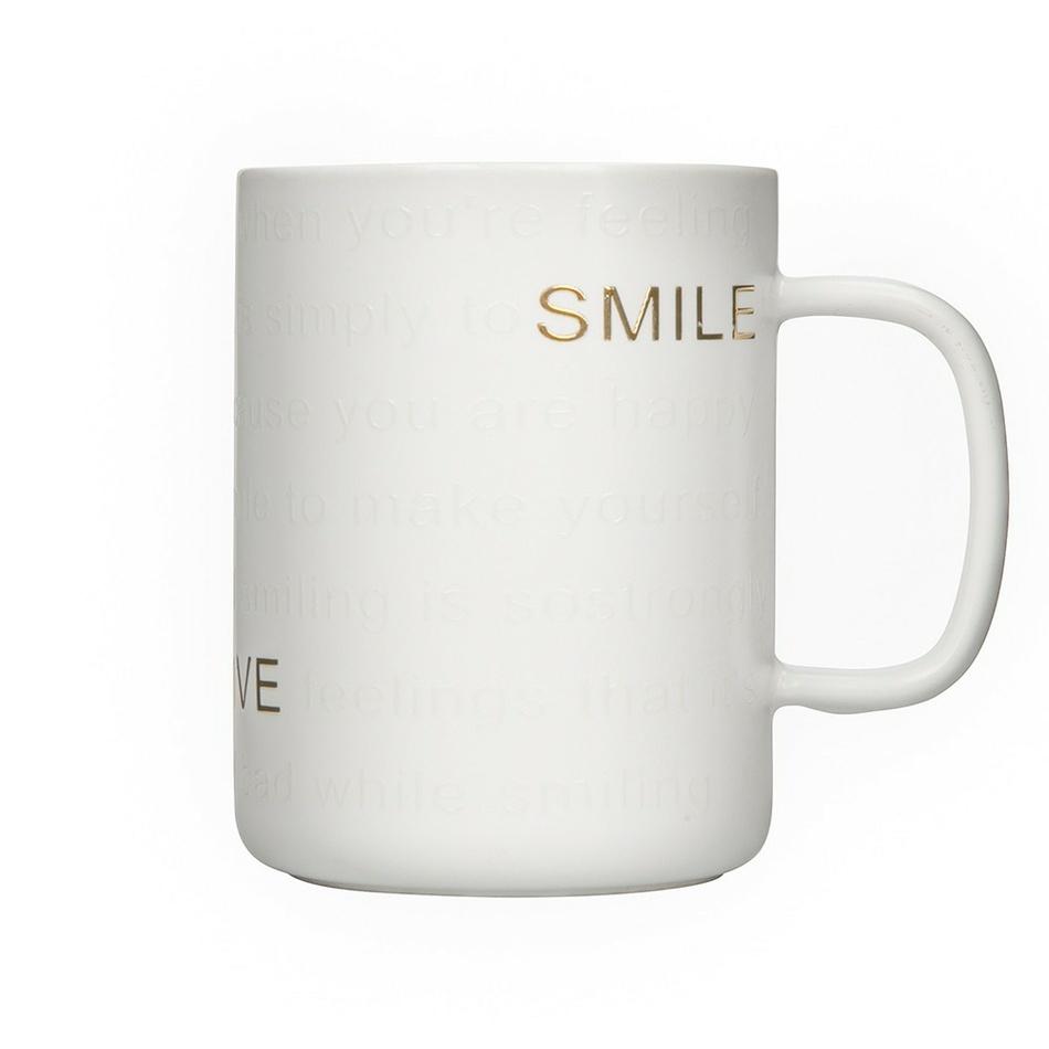 Altom Porcelánový hrnček Smile 360 ml, biela