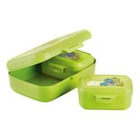 Tescoma Dino Zdrowe pudełka na drugie śniadanie 3 szt., zielony