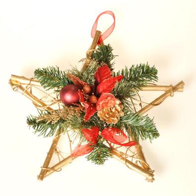 Dekorativní hvězda Poinsettia, červená