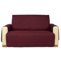 4Home Narzuta na kanapę 2-osobową Doublafce bordo/beżowa, 140 x 220 cm