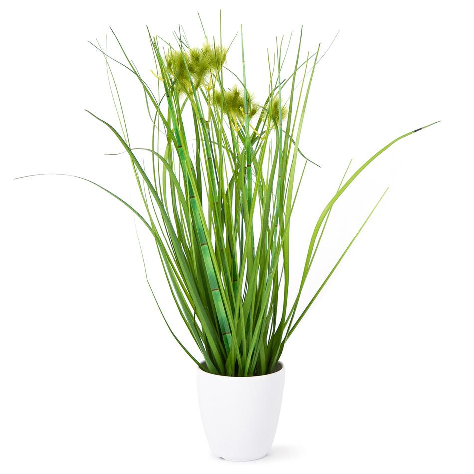 Umělá kvetoucí tráva Otilie zelená, 36 cm