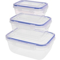 Koopman Sada plastových dóz na potraviny Daisy, 3 ks