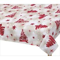 Față de masă de Crăciun Bellatex, pom roșu
