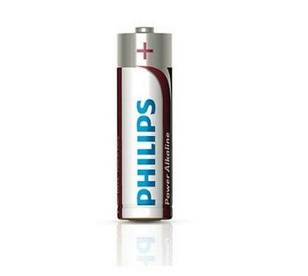 Alkalické baterie, 4 ks, Power Alkaline AA 1,5 V,