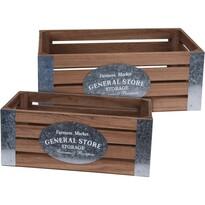 Sada dekoračních úložných boxů Farmers Market, 2 ks