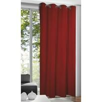 Alessandro függöny karikákkal, piros, 135 x 245 cm